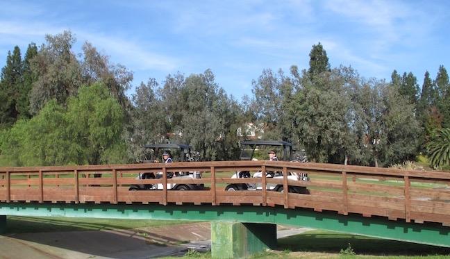 RBIWGC golfers cross over new bridge at No. 1