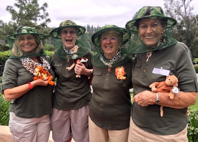 "Shirley Rehkopf, Suzy Leif, Janet Stewart and Doris Cronkhite won ""Best Team Costume"" award"